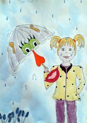 sophie et son parapluie